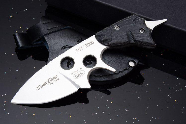 SAR 2008 Survie Droite Couteau D2 En Plein Air Tactique Camping Chasse Sauvetage Couteau De Poche CNC Défense Utilitaire EDC avec Etui En Cuir Homme Cadeau
