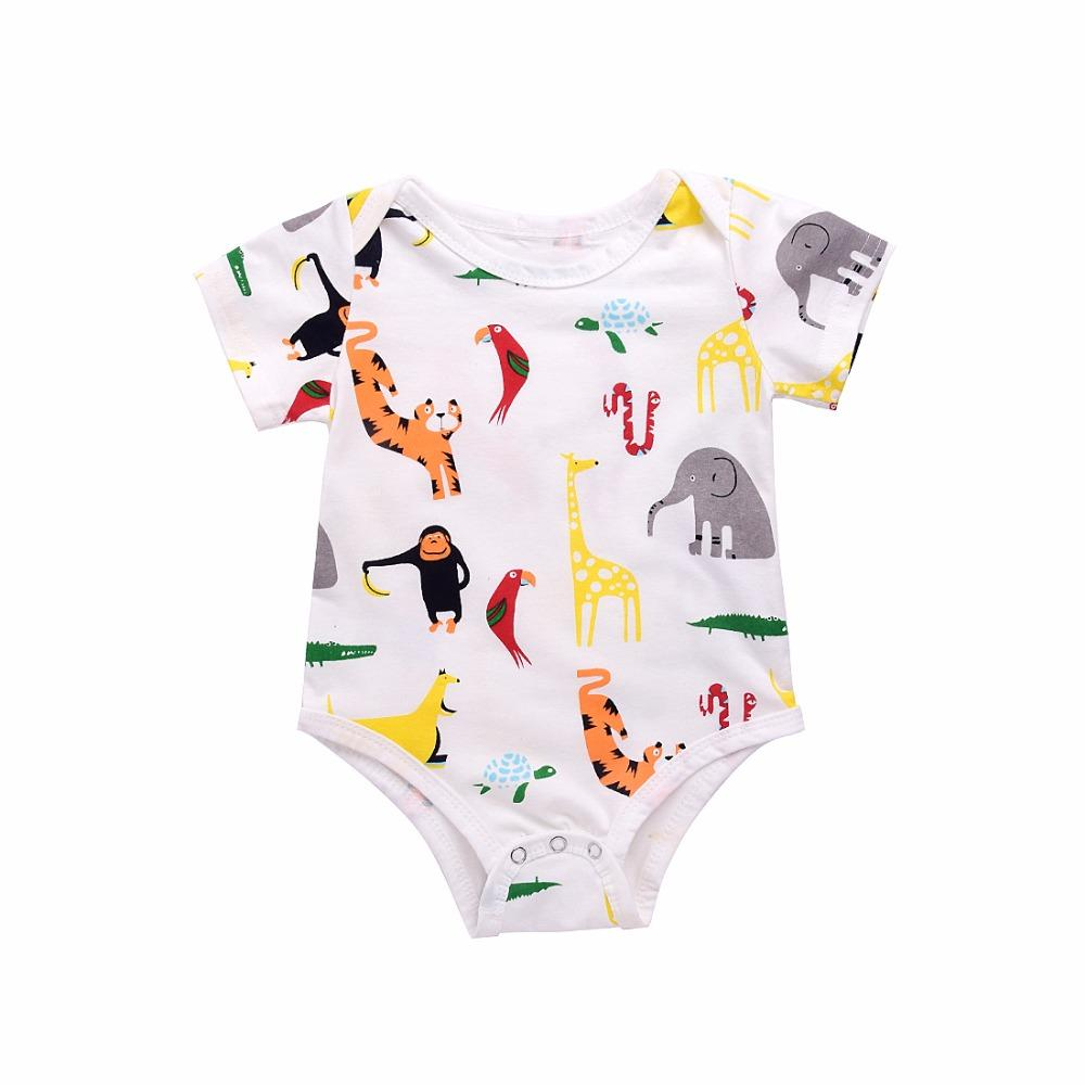 3a60f419cbb Mikrdoo Baby Cute Rompers Kid s Boy Girl Animal Deer Monkey Elephant ...