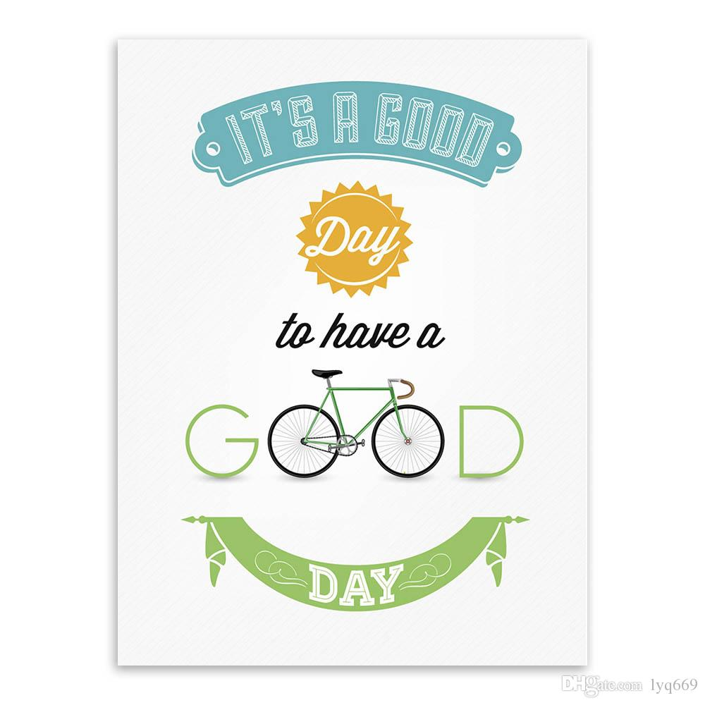 Vintage Retro Bike Bicycle Motivational Typography Quotes A4 Big Art Print Poster Hipster Wall Picture Canvas Painting Home Deco