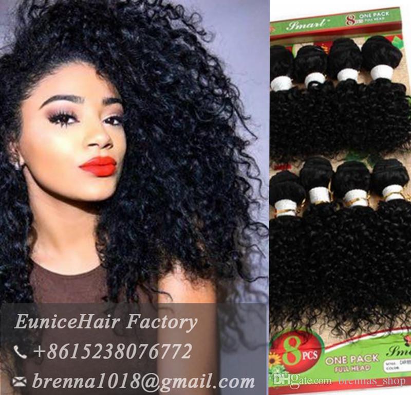 c64f4ef9621eeb Human Hair Deep Curly Peruvian African Weave Bundles 8bundlesKinky Curly  Hair Women 8inch Short Weave Extensions Jerry Curl Hair Bundle Hair  Extensions ...