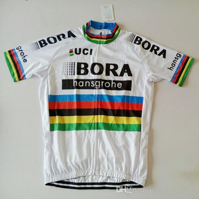 2018 Bora World Champion Jersey Breathable Cycling Jerseys Short Sleeve  Summer Quick Dry Cloth MTB Ropa Ciclismo Bicycle Maillot GEL Cycling  Jerseys Cycling ... 681978765