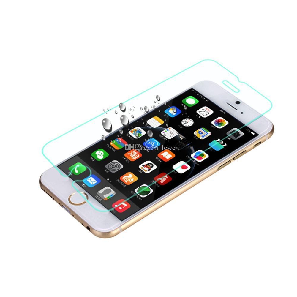 فيلم الزجاج المقسى 2.5D تغطية شاشة الهاتف المحمول فيلم واقية للهاتف المحمول لفون 7 6 زائد 4.7 بوصة 5.5 بوصة وشاشة