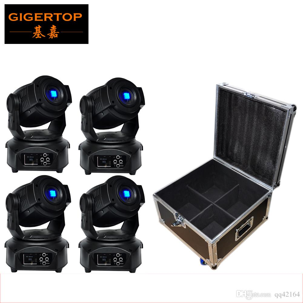 Flight Case 4In1 + 4XLOT 60W Led Moving Head Light, DMX512, Cina Huiliang Lampada Led Moving Head Gobo 60W Led Stage Light Equipment