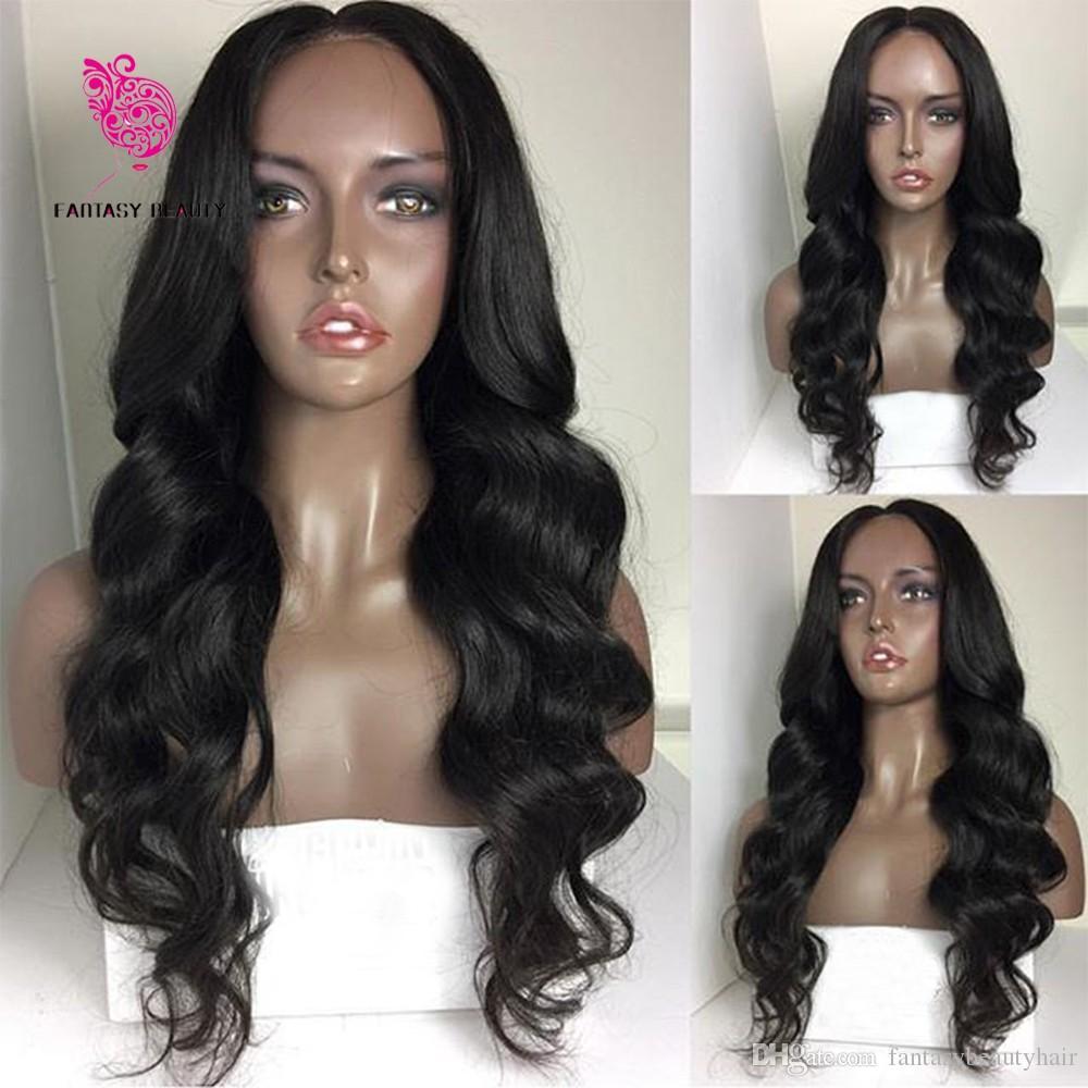 Tutkalsız Tam Dantel İnsan Saç Peruk Siyah Kadınlar Için Perulu Bakire Saç Peruk Vücut Dalga Dantel Ön İnsan Saç Peruk Tam Dantel Peruk