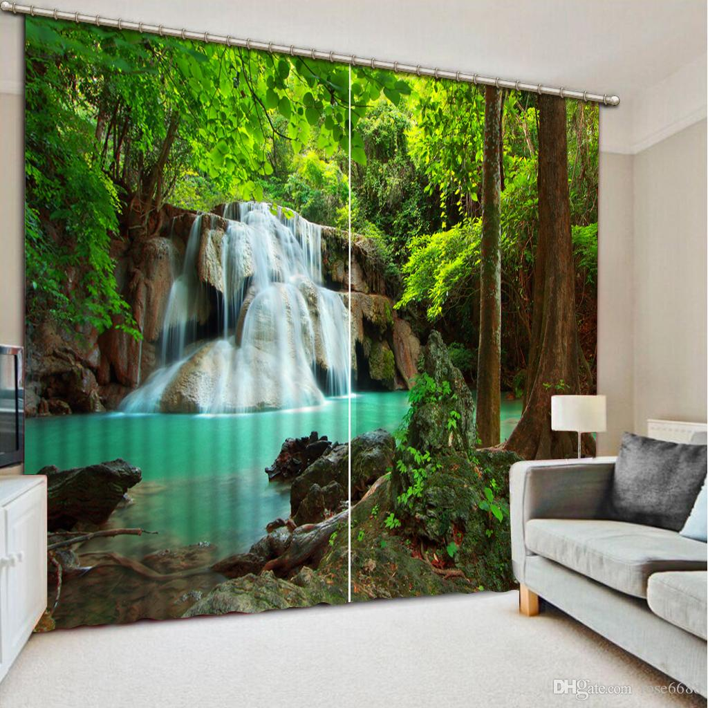 2017 High Quality Curtain Customize Size Modern Curtains For Living Room  Waterfall Green Scenery Home Modern Decoration From Rose6688   199 4    Dhgate Com2017 High Quality Curtain Customize Size Modern Curtains For  . Living Room Waterfall. Home Design Ideas