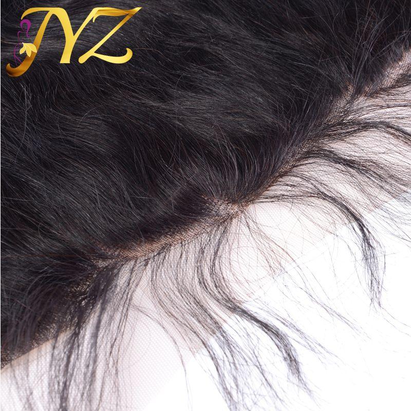 Бразильский объемная волна кружева фронтальная закрытие средний свободный три части 13*4 девственные человеческие волосы уха до уха кружева фронтальная перуанский кружева фронтальная