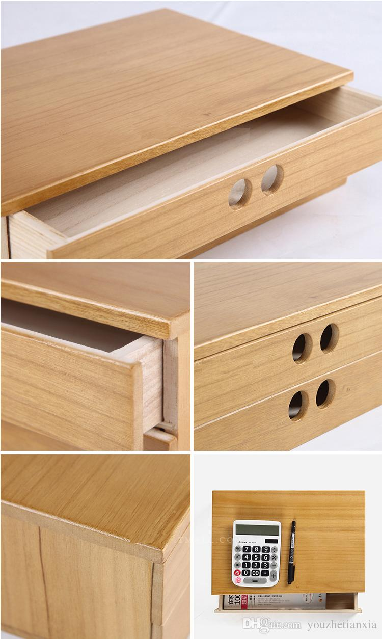 A 4 paper tool cabinet case Wooden desk storage drawer debris cosmetic storage box bin jewelry office Creative gift Home