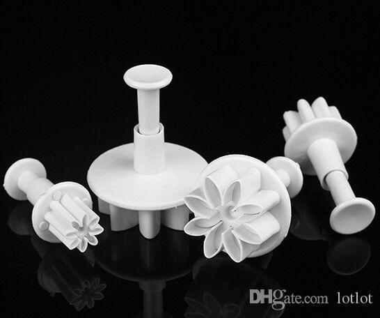 4 조각 귀여운 국화 꽃 데이지 케이크 초콜릿 젤리 금형 도구 만들기 비스킷 금형 설탕 케이크 도구