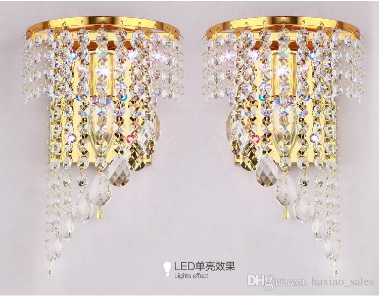Crystal Wall Lamp K9 Chandelier Light E14 Led Bulb Lamp Living