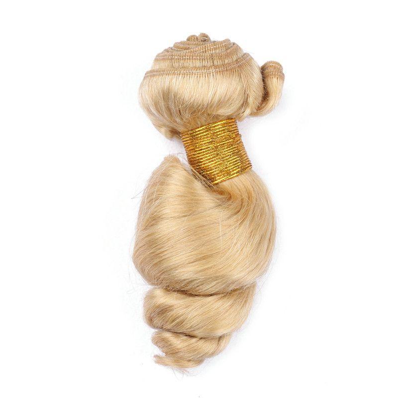 Brasilianisches blondes Menschenhaar webt Verlängerungen lose Welle wellenförmiges # 613 Bleach blonde Jungfrau-Menschenhaar-Bündel-Angebote 10-30