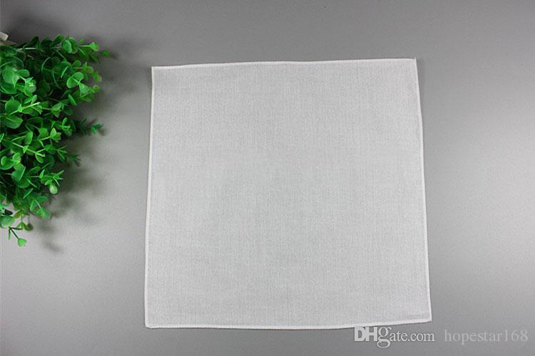 بيضاء نقية 100 ٪ مناديل النساء الرجال 28 سنتيمتر * 28 سنتيمتر الجيب ساحة الزفاف عادي diy طباعة رسم بالمناديل
