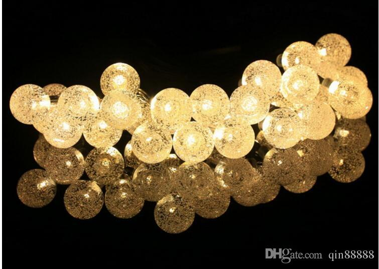 Outdoor Lighting 20 LED Solar String Fairy Lights Solar Power Crystal Ball Globe Lamp For Garden Light Christmas Decoration