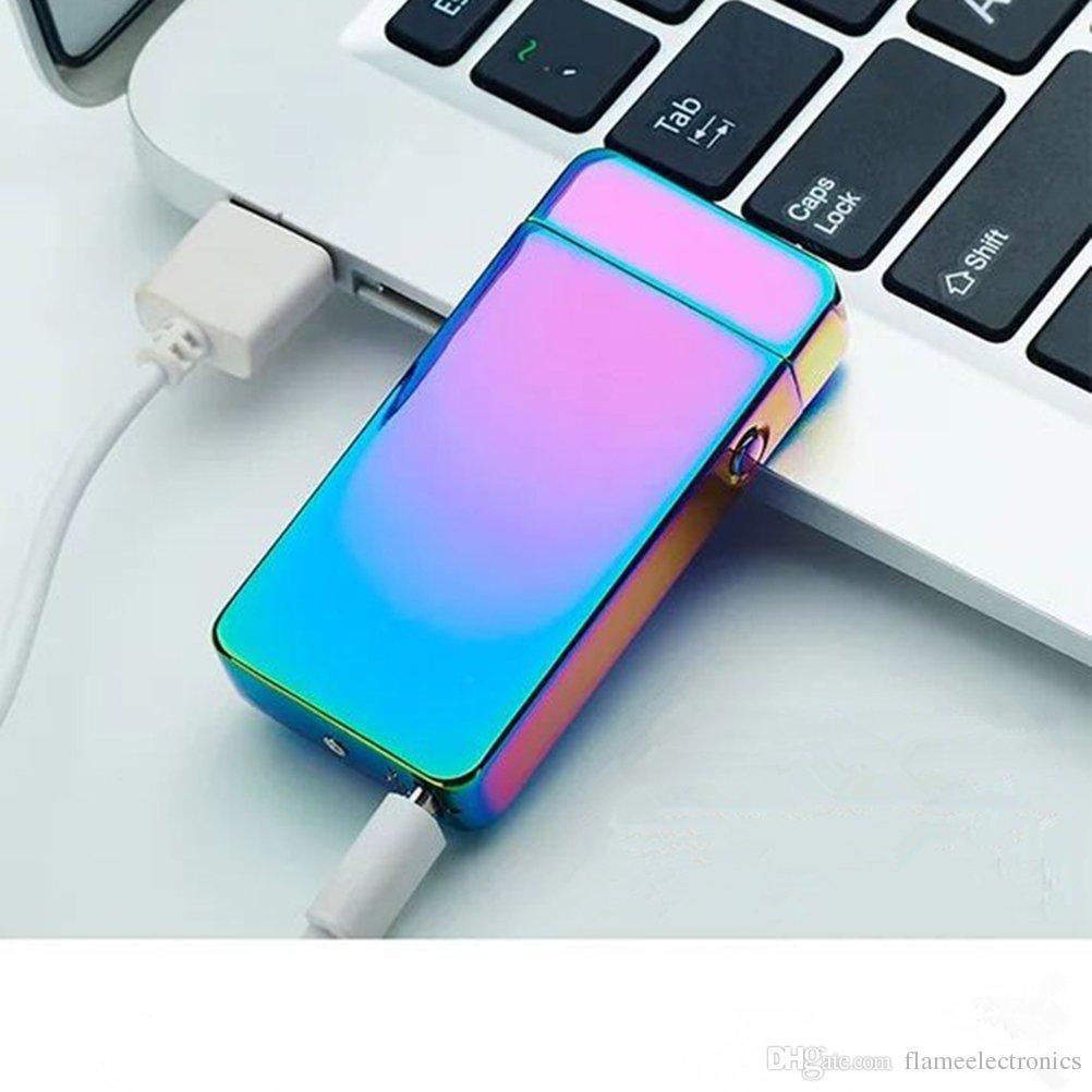 Double Fire Cross ARC Pulse Flameless Plasma Torch Dual Arc Electric USB Lighter Rechargeable Plasma Windproof Flameless Cigarette Lighter