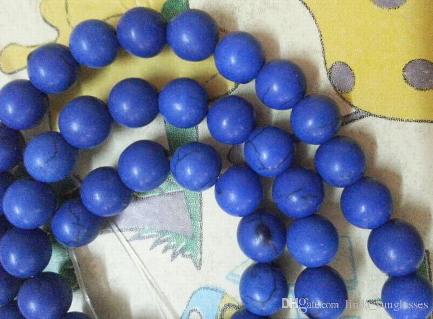 wholesale Blue pretty 8mm Blue Turkey Turquoise Gems Round Loose Bead total