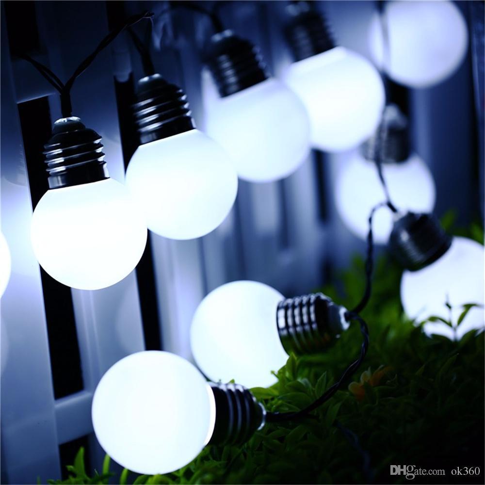 Cheap Christmas Decorations Lights G50 Solar Power String Light 10 Led  Outdoor Lighting Solar Bulb Lamp For Home Path Street Garden Light Patio  Light ...