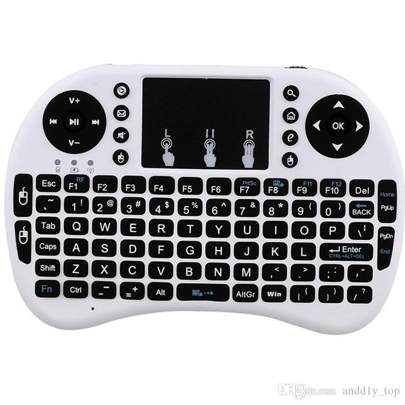 Mini Rii i8 teclado sem fio 2.4G Inglês Air Mouse Keyboard Remote Control Touchpad para Smart Android TV Box Notebook Tablet Pc