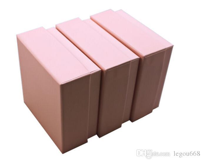 7.3 * 7.3 * 3.5 سنتيمتر مربع أبيض وردي للمجوهرات قلادة قلادة هدية صناديق تغليف حلقة القرط الحالات carring G1162