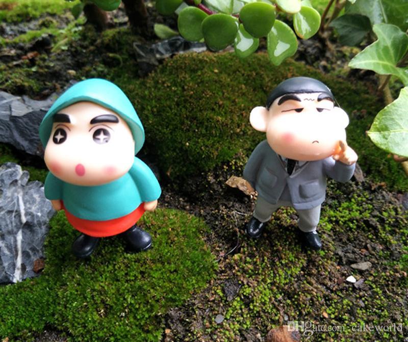 big eyes Crayon Shinchan figurines for home decoration fairy garden miniatures mini gnomes moss terrariums decor resin crafts