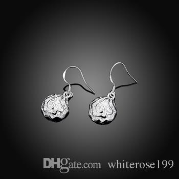 Groothandel - laagste prijs kerstcadeau 925 Sterling zilveren mode oorbellen E36