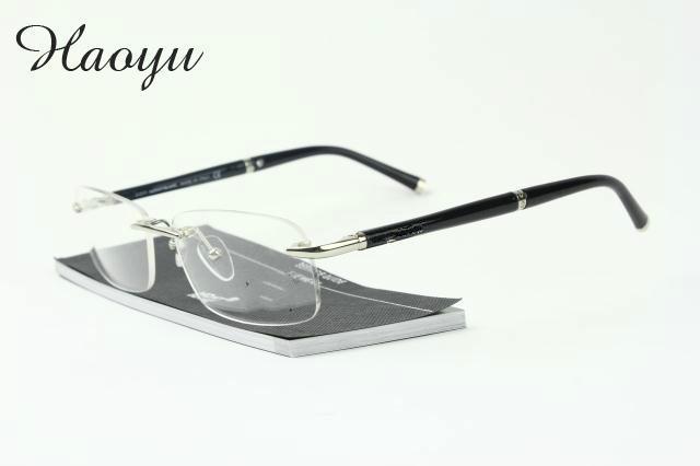7a8477ef817d 2019 Wholesale Haoyu Titanium Glasses Frame Men Rimless Eyeglasses High  Quality Brand Fold Optical Myopia Frameless Prescription Glasses Mb0347  From Jutie, ...