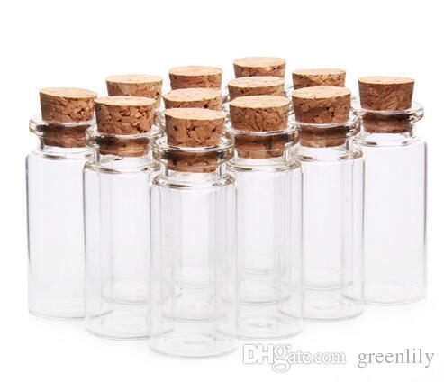 Glass Jars Glass Bottles Cork Stopper Packing Bottles Phials Gifts