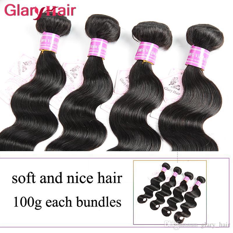 Fasci di capelli brasiliani malesi indiani peruviani dell'onda del corpo dei capelli tesse mongolo cambogiano remy estensioni dei capelli umani articoli di vendita caldi