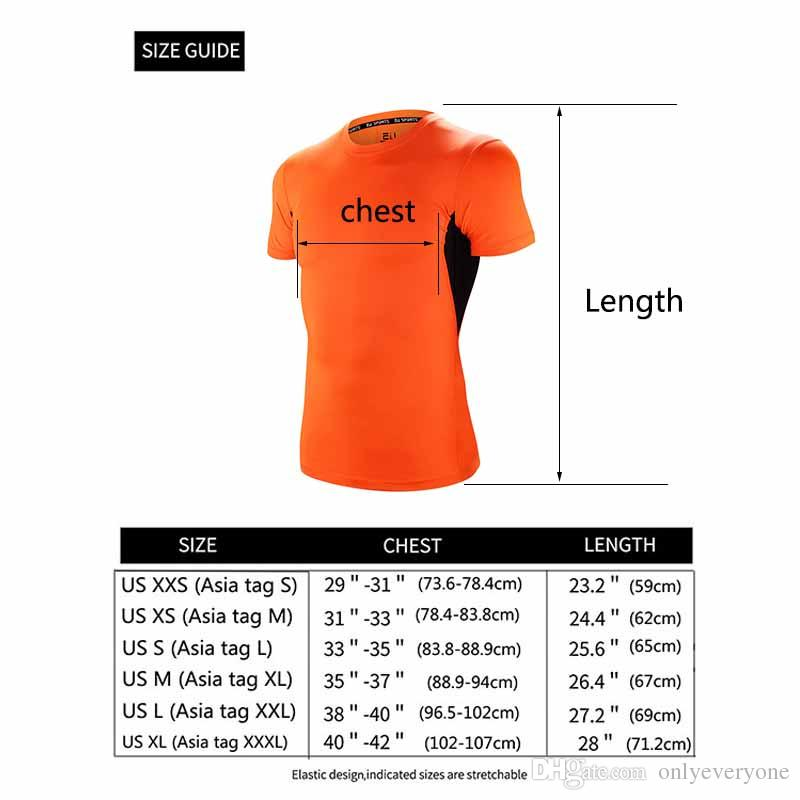 Men Running Sports Tights Male Summer Training Compression Fitness Breathable Stretch Fitness Wear Slim Short Sleeve T-Shirt
