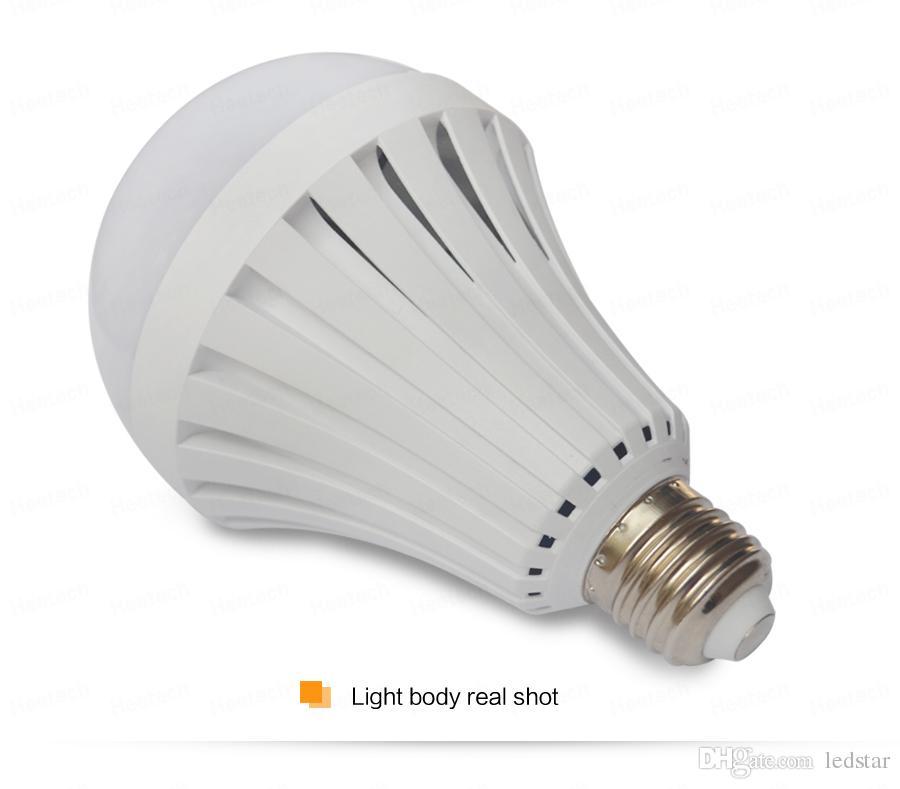 E27 leb лампочки интеллектуальная перезаряжаемая аварийная лампа Лампа SMD 5730 5 Вт/7 Вт/9 Вт / 12 Вт светодиодные фонари