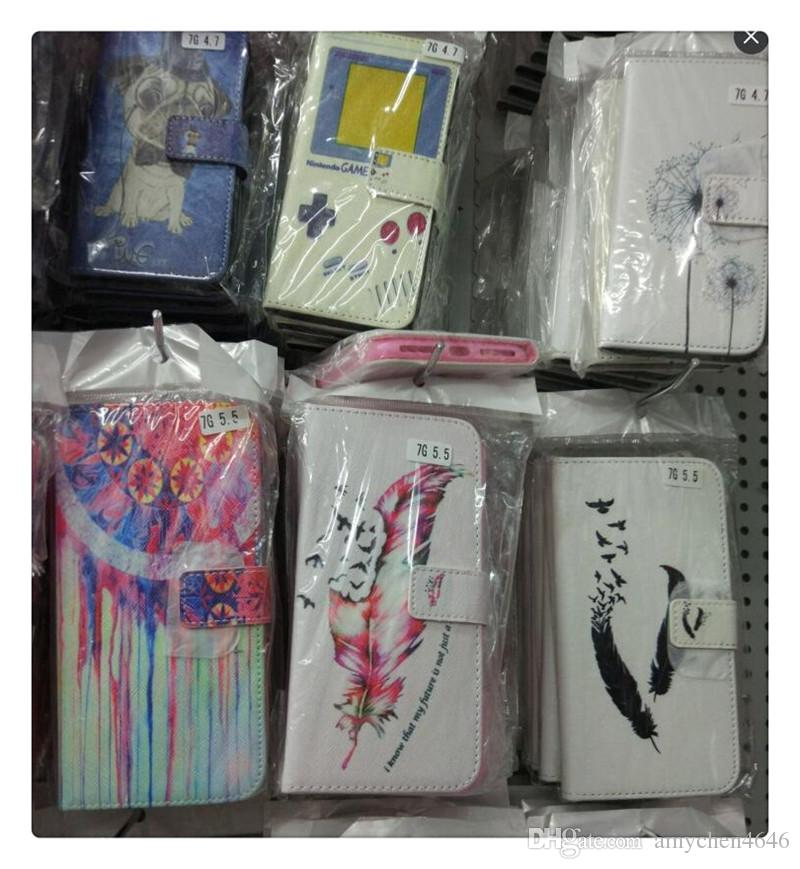 Luxury Fashion Painted Pattern PU Leather Cases For Sony Xperia T3 T 3 M50W D5102D5106 D5103 Cell Phone Accessories Cover Shell
