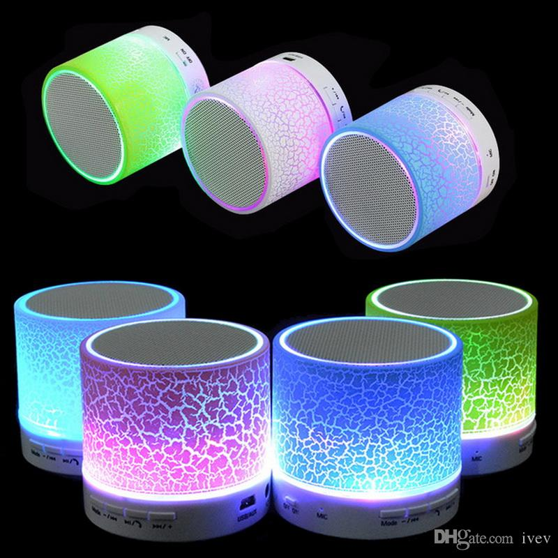 hotsale mini portable s10a9 crackle texture bluetooth speaker with led light can insert u disc. Black Bedroom Furniture Sets. Home Design Ideas