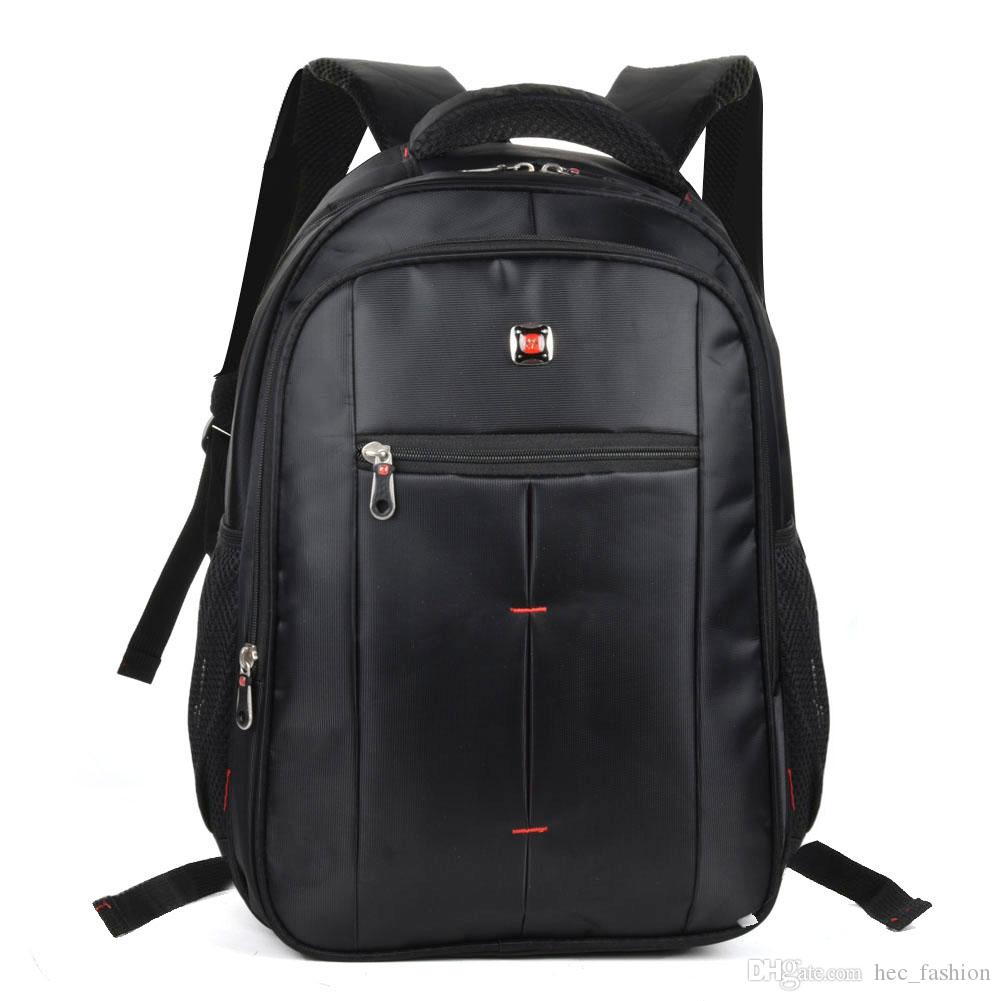 Hot Sell 2017New Backpack School Bag Computer Bag Waterproof Casual Travel Outdoor Men Woman Student High Capacity Nylon Black Unisex QQ2141