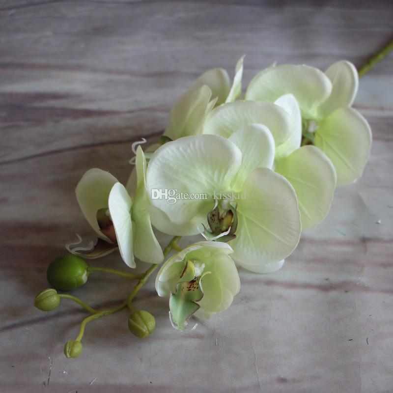Artificiale farfalla Farfalla Orchidea Flower Flower Phalaenopsis Display Fiori finti Stanza di matrimoni Della casa Decorazioni la casa i