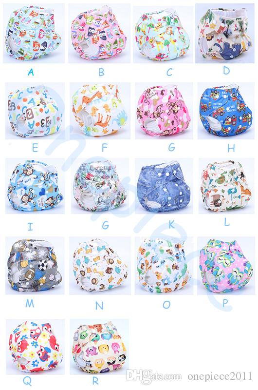 2020 High quality Organic Printed Cartoon Colorful baby Cloth diapers with insert Nappy