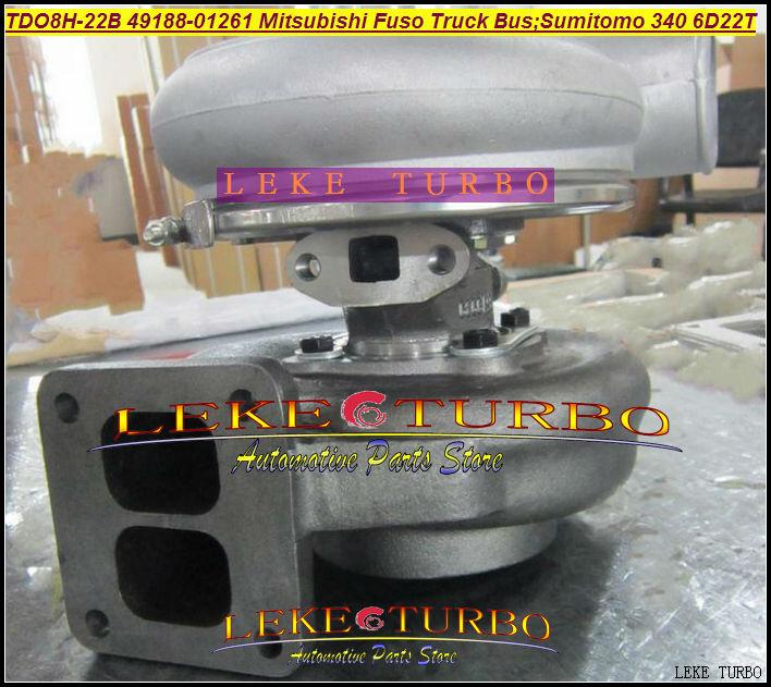 TD08H TDO8H-22B 49188-01261 Turbocharger For Mitsubishi Fuso Truck Bus; SUMITOMO340 6D22T Various Engine 6D22T 6D22T3 (1)