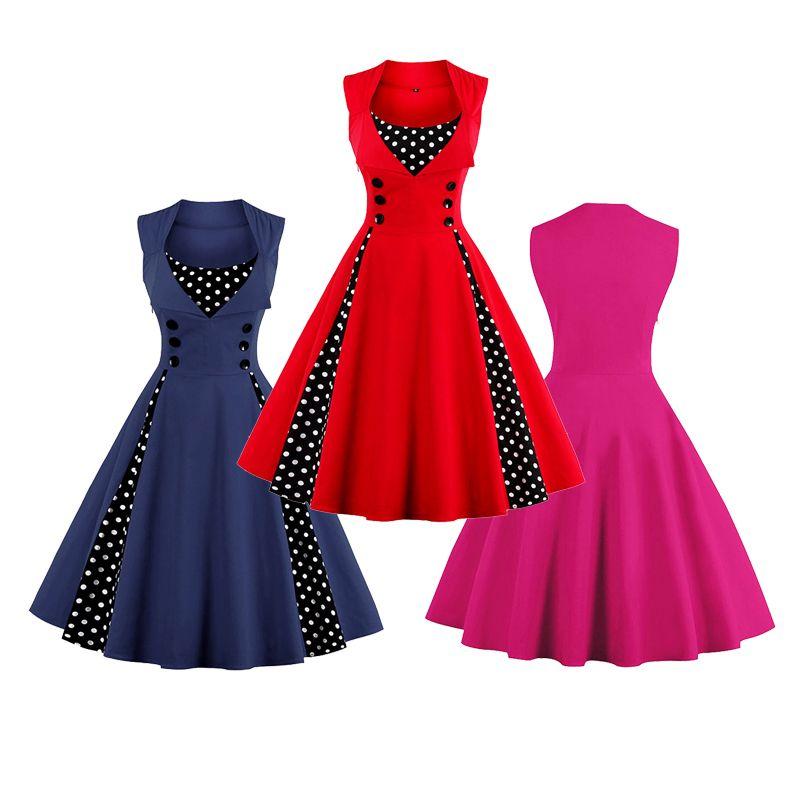 2018 Wholesale Shevalues Women Vintage Character Stylishly Polka Dot ...