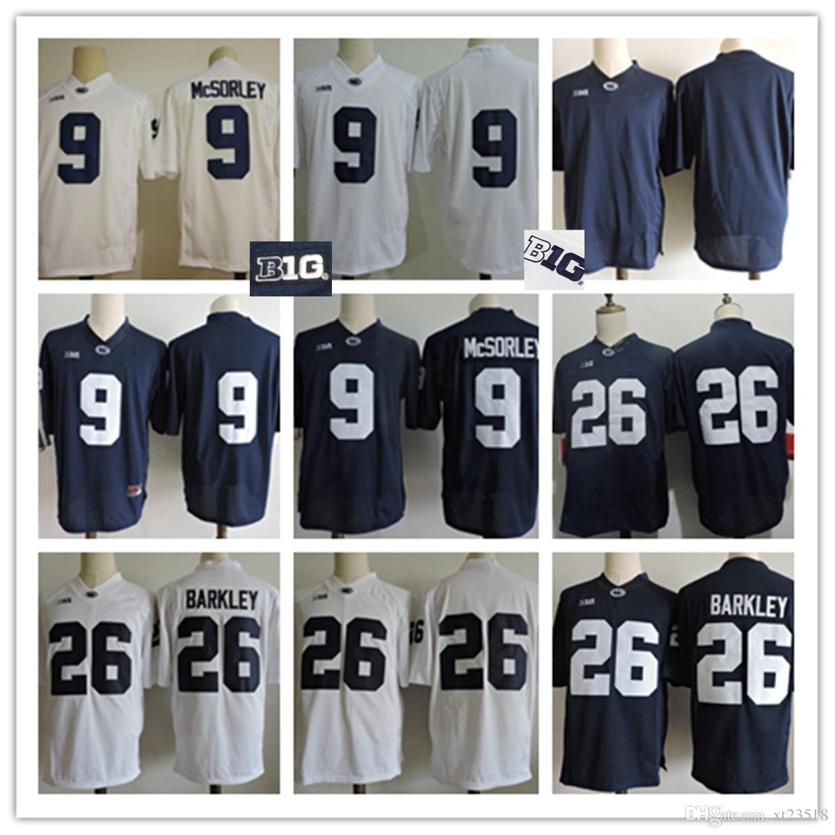 ... Mens Penn State Nittany Lions Saquon Barkley Big Ten College Football  Jerseys Stitched 9 Trace McSorley ... d43a52948