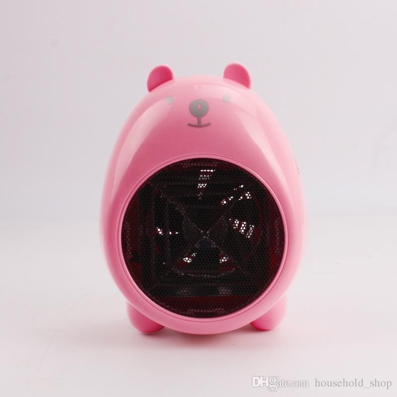 Mini Electric Heaters Warm Air Blower Personal Heater Cartoon pig Miniature Fan heater Home Office supplies 2018 Christmas Gifts