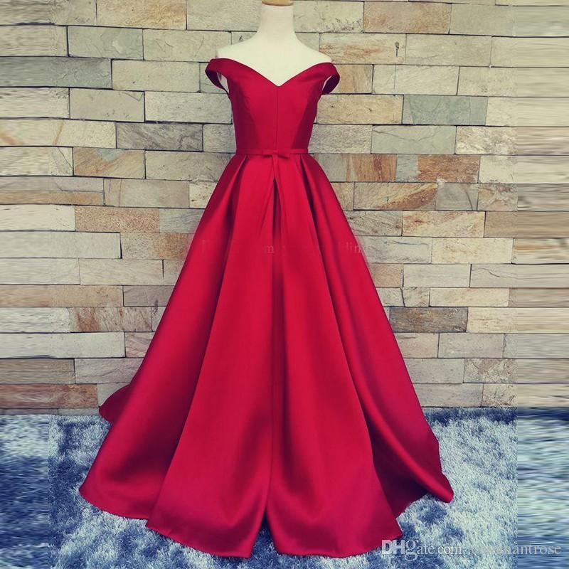Red Carpet Long Prom Dresses With Belt Sexy V Neck A Line Open Back Lace Up Vintage Evening Dress Party Gowns Real Photos