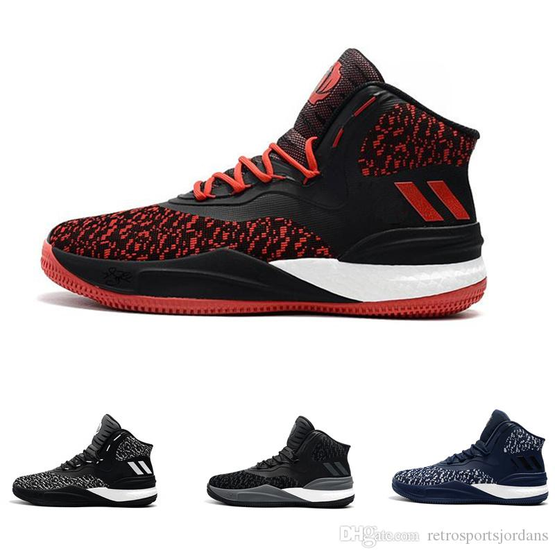 D Rose 8 Basketball Shoes Men Derrick Rose Flywire Black White Red Grey  Outdoor Basketball Sports Boots High Quality Sneaker Size 40 46 Basketball  Shoes For ...