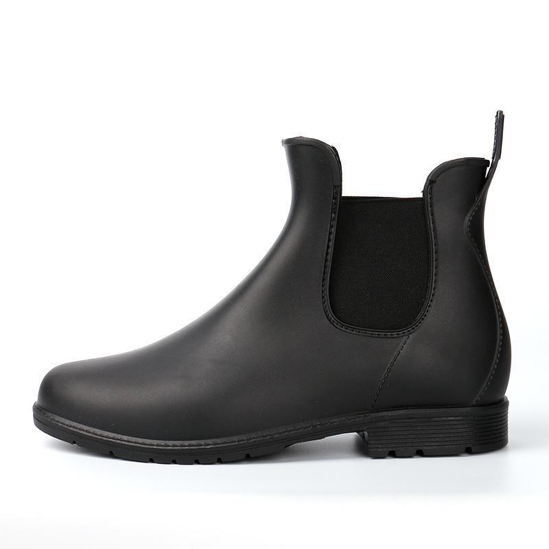 Wholesale Kitchen Rain Boots Slip On British Mens Platform PVC Waterproof  Motorcycle Black All Season Cooker S Martin Boots Men Shoes Slipper Boots  Ankle ... 476ff8a304c1
