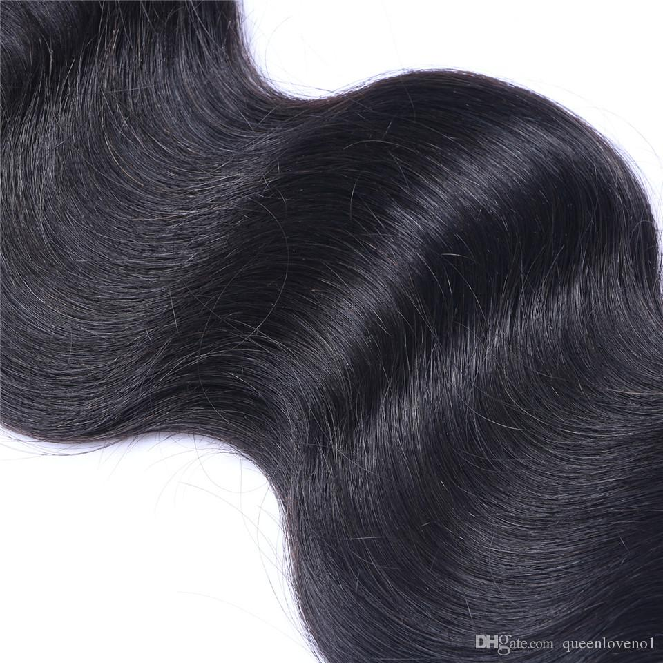 Brezilyalı Vücut Dalga% 100 İşlenmemiş İnsan Bakire saç örgüleri En İyi Kalite Remy İnsan Saç Uzantıları İnsan saç örgüleri boyanabilme 3 desteler