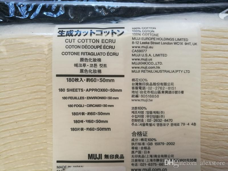 Japanische 100% reine organische baumwolle wickelt baumwollgewebe japan pads Für DIY RDA RBA Vape E cig Mechanische mod 180 teile / beutel MUJI DHL