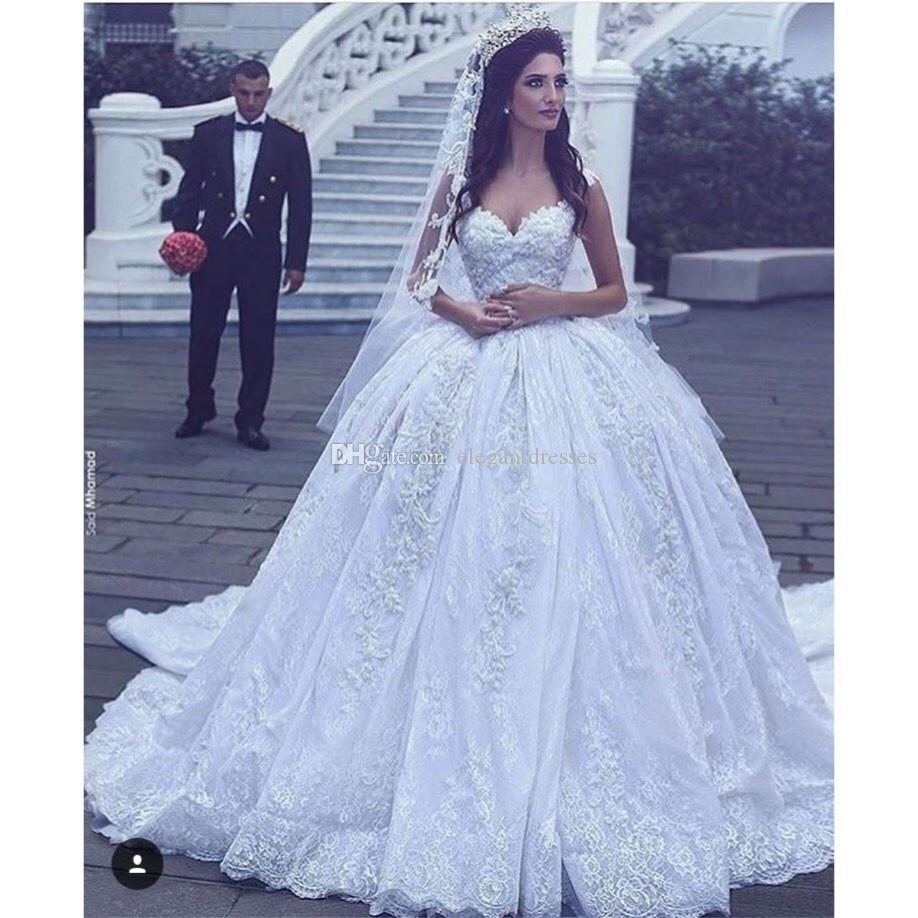 Discount 2017 designer a line new wedding dresses with for Cheap wedding dresses in dubai