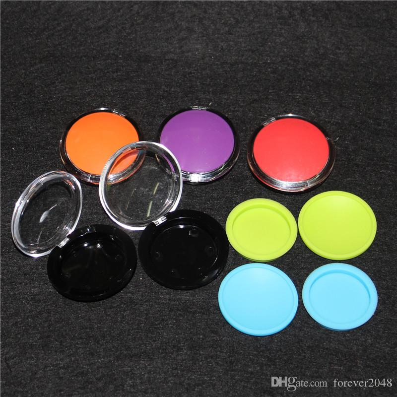 6ml Acrylic Clam Shell Shape Make up Silicone Container Jars Dab Box Reusable For Concentrate Wax Ego Electronic Cigarette Multi Color