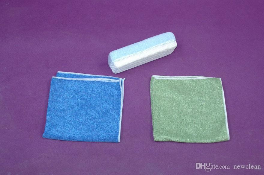 10 unids 40 cm x 40 cm 420 m 2 Microfibra Pulido Toallas de limpieza Vidrio Acero inoxidable Brillo paño Ventana Parabrisas paño