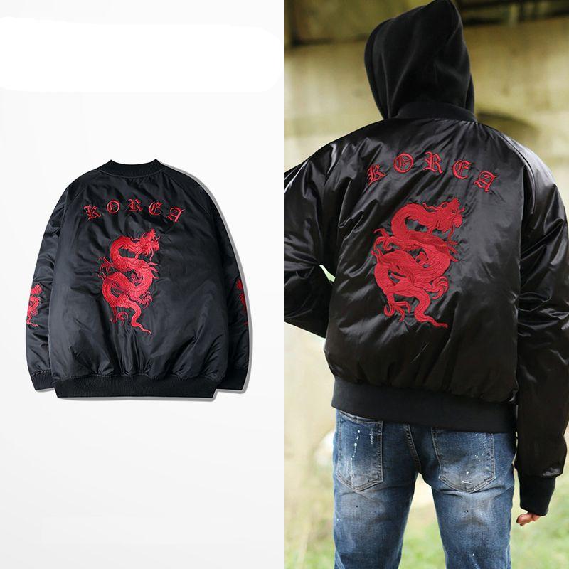 Provergod Gang Style Mens Ma1 Coats Bomber Jackets 3d Embroidery ...