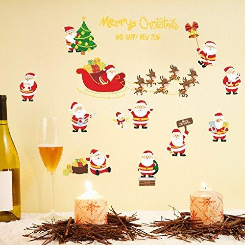 Creative New Christmas Wall Stickers Hot Gold Wall Stickers Bedroom ...