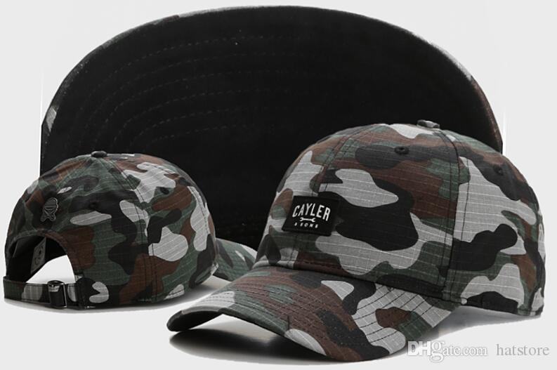 ce655ddb3af Camo Men Curved Snapback Fashion Hip Hop Street Hat Strapback Cayler Sons Snap  Back Causal Hunting Hats Adjustable Baseball Peak Cap TYMY 48 Richardson  Hats ...
