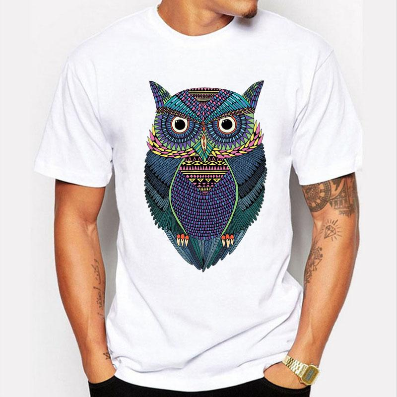 05fc428cfc832 Newest Fashion Mystery Owl T Shirt Brand Clothing Funny A Bird Of Minerva T- shirt Men Creative Tshirt Short Sleeve Tops