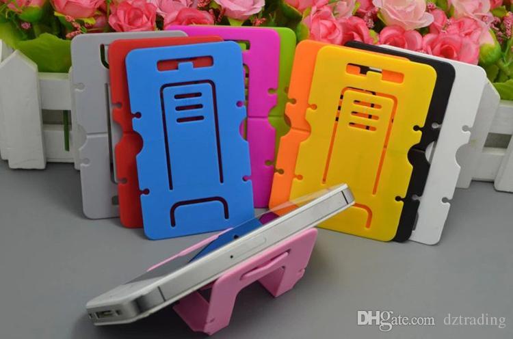 Boa Qualidade Plástico Portátil Dobrável Cartão Telefone Monta Celular Tablet Suporte Titular Para Telefone Tabela PC